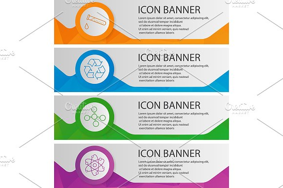 Chemical Lab Banners Vector