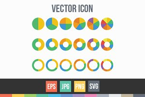Pie Charts, Graph, Analytics Vector