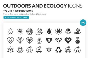 Outdoor and Ecology Icons