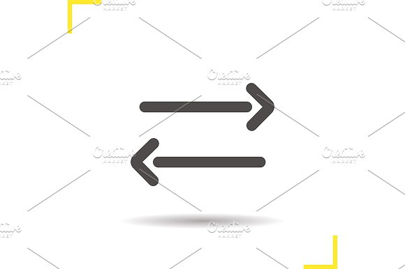 Left And Right Arrows Icon Vector