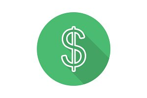 Dollar icon. Vector