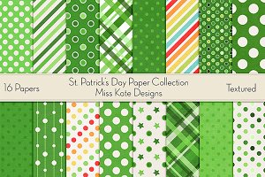St. Patrick's Day Digital Paper Pack