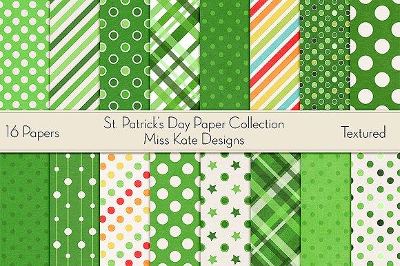 St Patrick's Day Digital Paper Pack
