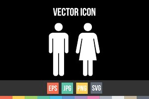Male and Female Symbols Vector