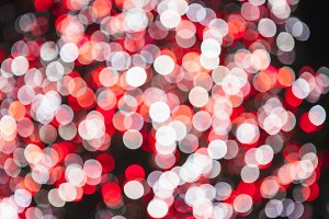 Red and white bokeh