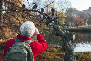 Man takes photo at St James Park