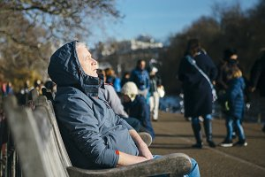 Man rests at St James Park