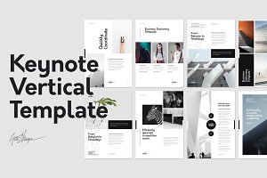 Keynote Vertical Stationery Template