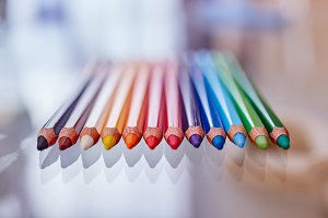 Color Pencils Closeup