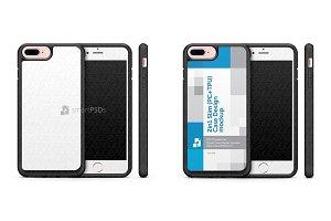 iPhone 7+2d 2in1 Slim Case Mockup