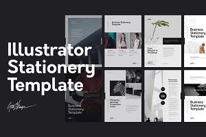 Nano Illustrator Stationery Template