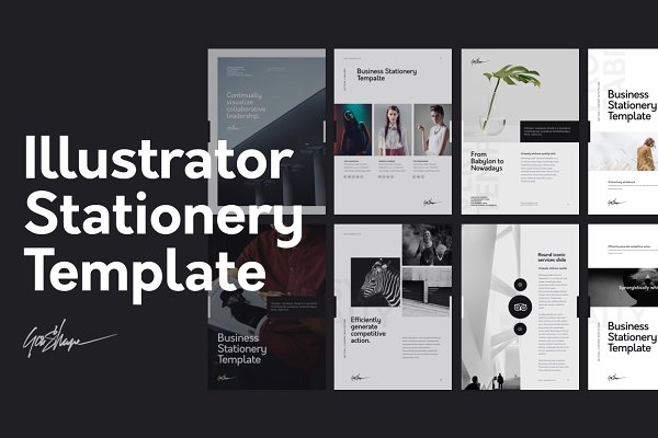 Stationery Templates: GoaShape - Illustrator Stationery Template