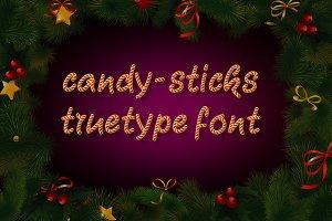 Candy-Sticks TrueType Font