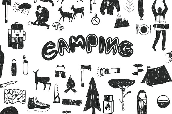 Camping Graphic Set