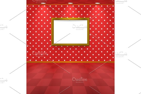 Polka Dot Room With Frame