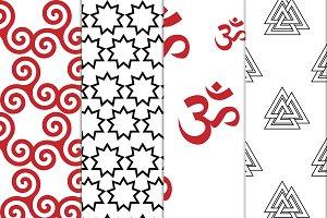 Religious seamless patterns