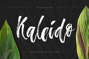 Kaleido - script brush font