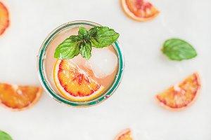 Blood orange summer lemonade