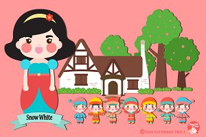 Digital Clipart  Snow White