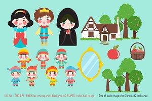 Digital Clipart Snow White