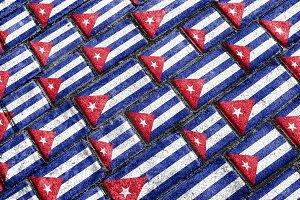 Cuba Flag Urban Grunge Pattern