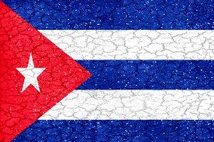 Cuba Grunge Style National Flag