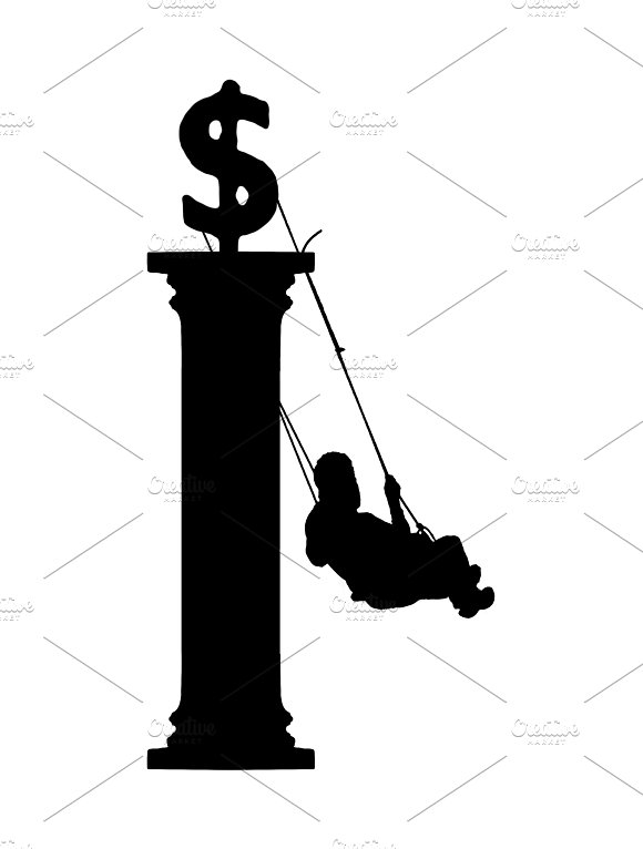Finance Concept Silhouette Illustration