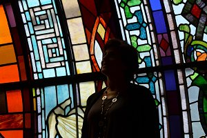 Silhouette with Stain Glass