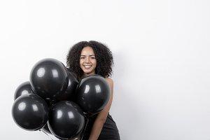 Woman wtih balloons