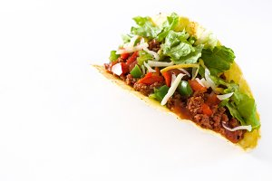 Traditional Mexican taco