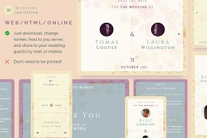 Wedding invitation web / mobile
