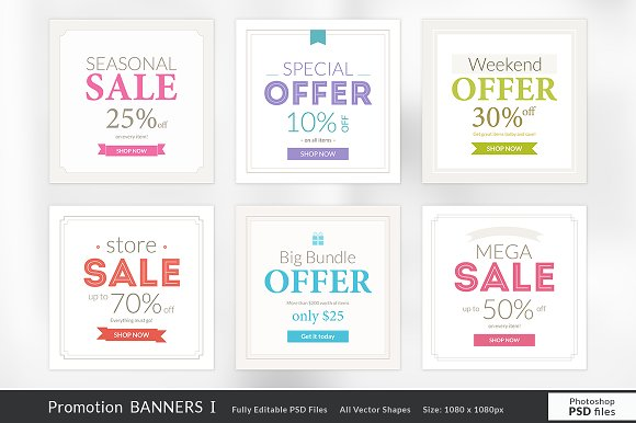 Promotion Banners I
