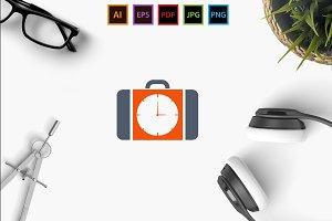 Suitcase Clock