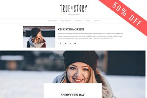 True Story -  Personal Blog Theme