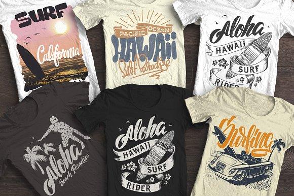 Summer Surf T-shirt Print