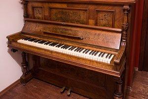 beautiful old German piano