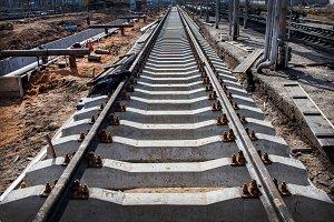Concrete railroad ties