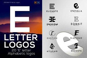 """20 """"E"""" Letter Alphabetic Logos"""