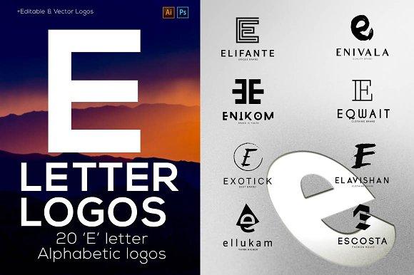 20 E Letter Alphabetic Logos