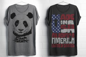 Cute Panda and American shirt print
