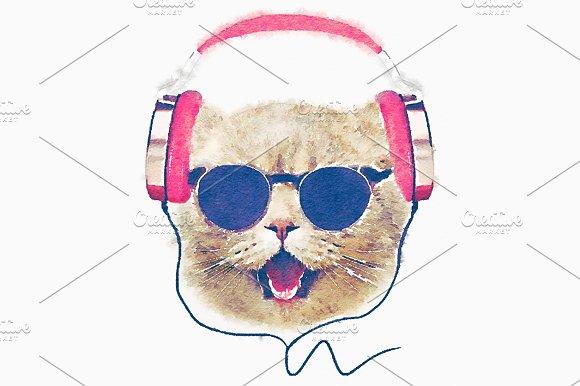 Cat Graphics Cartoon Character