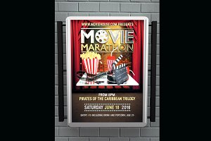 Movie Marathon Flyer