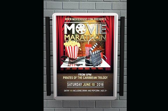 Movie Marathon Flyer
