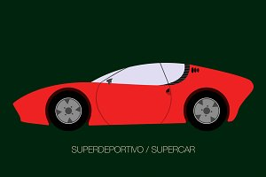 red super car