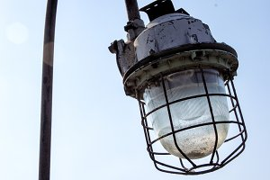 old lantern in an industrial plant