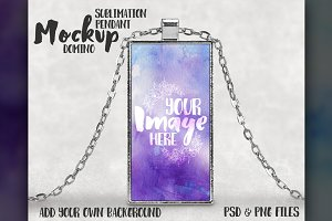 Domino sublimation pendant mockup