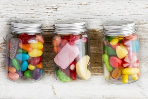 Assortment of sweets and candies