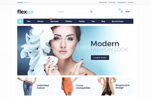 Flexus Premium OpenCart Theme