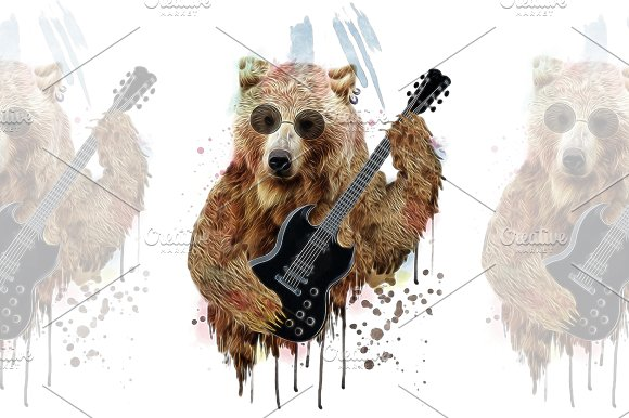 Bear Illustration Cartoon Character