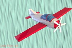 Cartoon Plane Low Poly